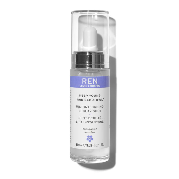 how to use ren instant firming beauty shot