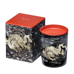 Dragon: Fiery Orange Christmas Candle, , large