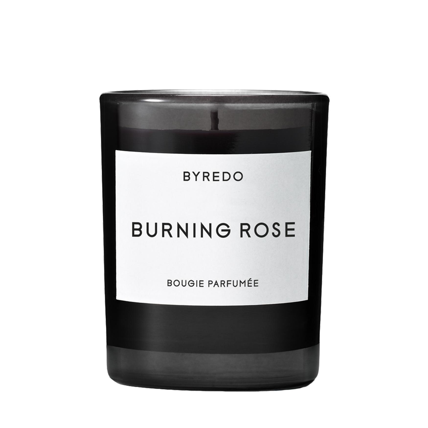 Burning Rose Mini Candle, , large
