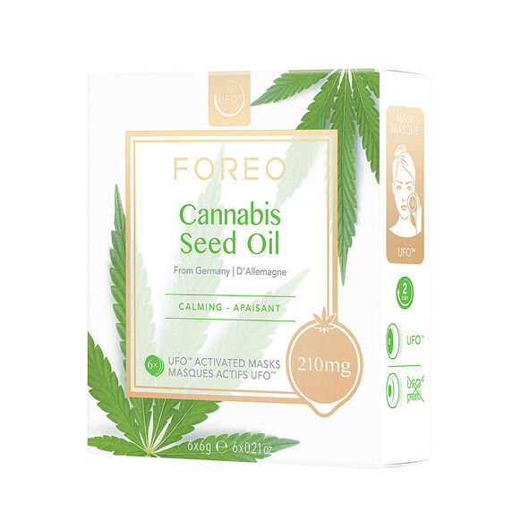 Cannabis Seed Oil UFO Calming Face Mask, , large, image1