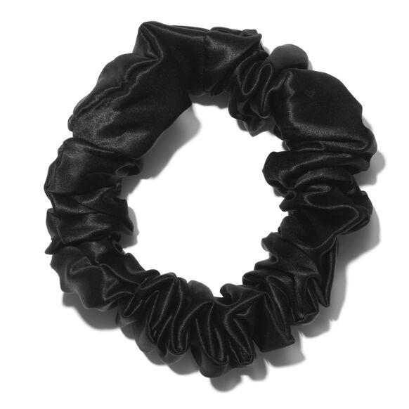 Large Silk Scrunchies, BLACK, large, image3