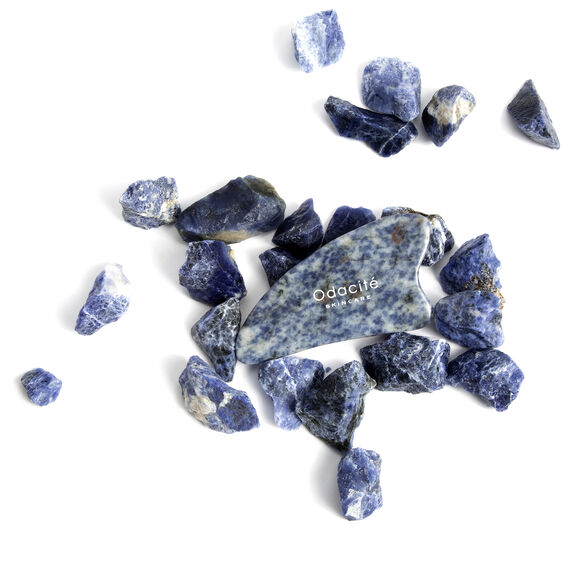 Crystal Contour Gua Sha Blue Sodalite Beauty Tool, , large, image4