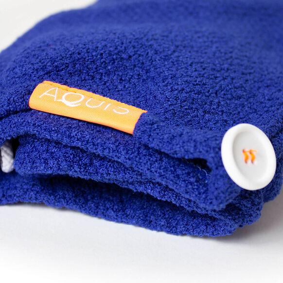 Classic Blue Stretch Turban, , large, image2