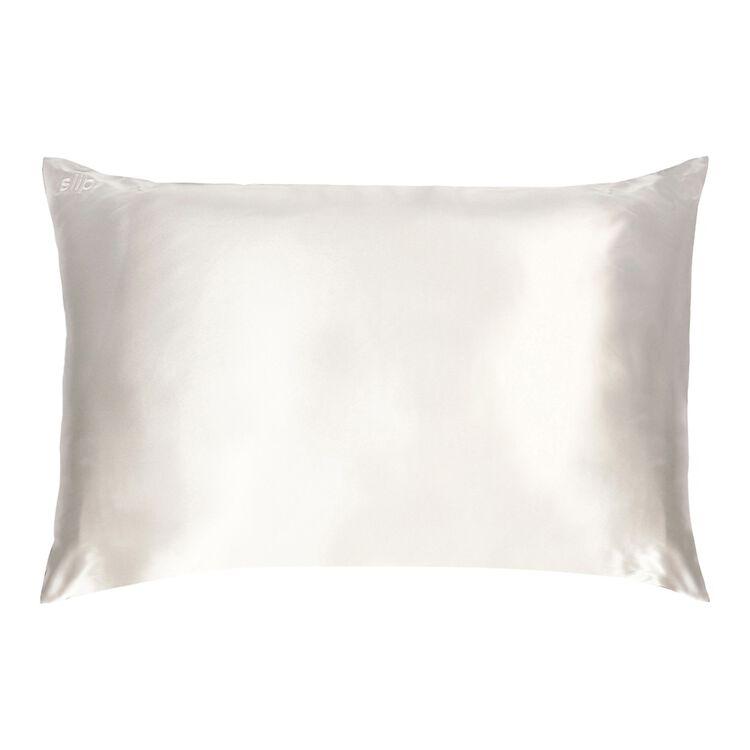 Silk Pillowcase - Queen Standard, WHITE, large