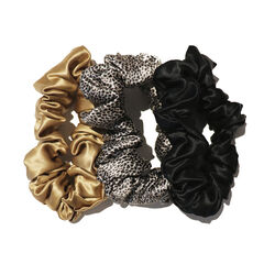 Large Scrunchies, GOLD, BLACK, LEOPARD, large