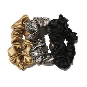Large Scrunchies, GOLD, BLACK, LEOPARD, large