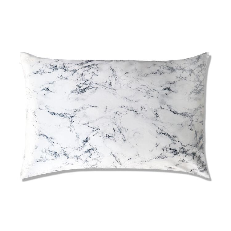 White Marble Slipsilk Queen Pillowcase, , large