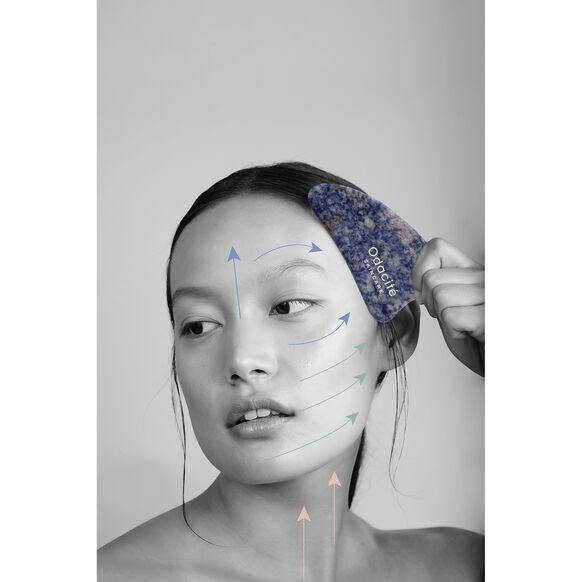 Crystal Contour Gua Sha Blue Sodalite Beauty Tool, , large, image3