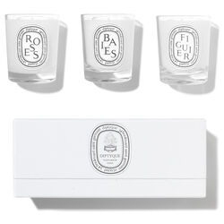 Baies, Figuier, Roses Mini Candle Set, , large