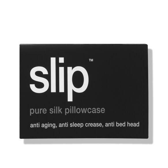Silk Pillowcase - Queen Standard, BLACK, large, image3