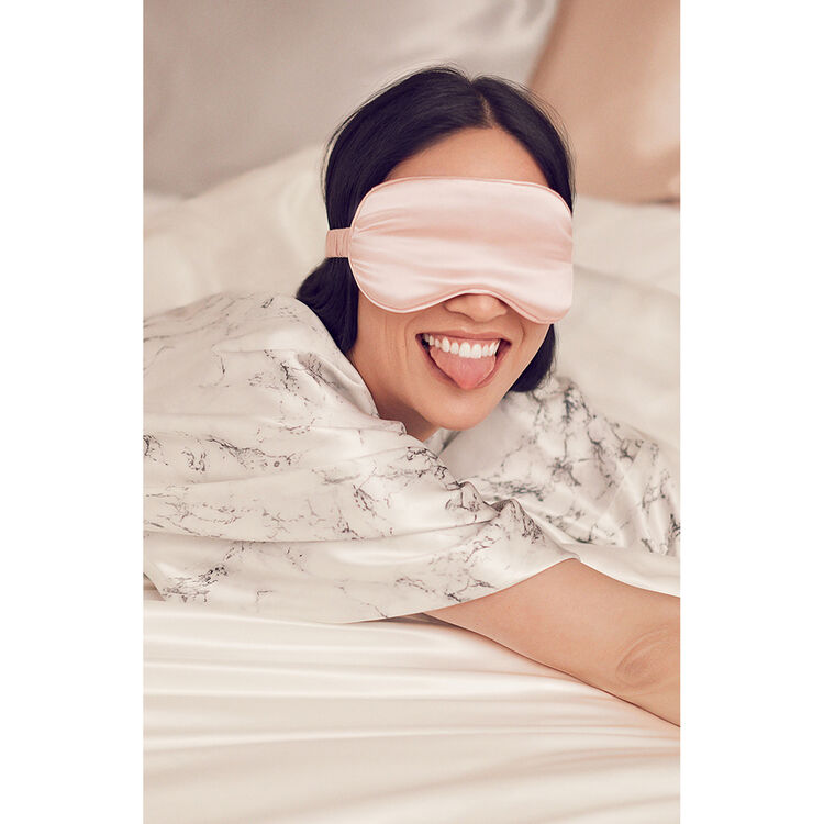 Silk Sleep Mask, PINK, large