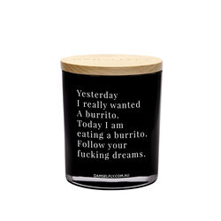 Yesterday I Really Wanted A Burrito Candle, , large