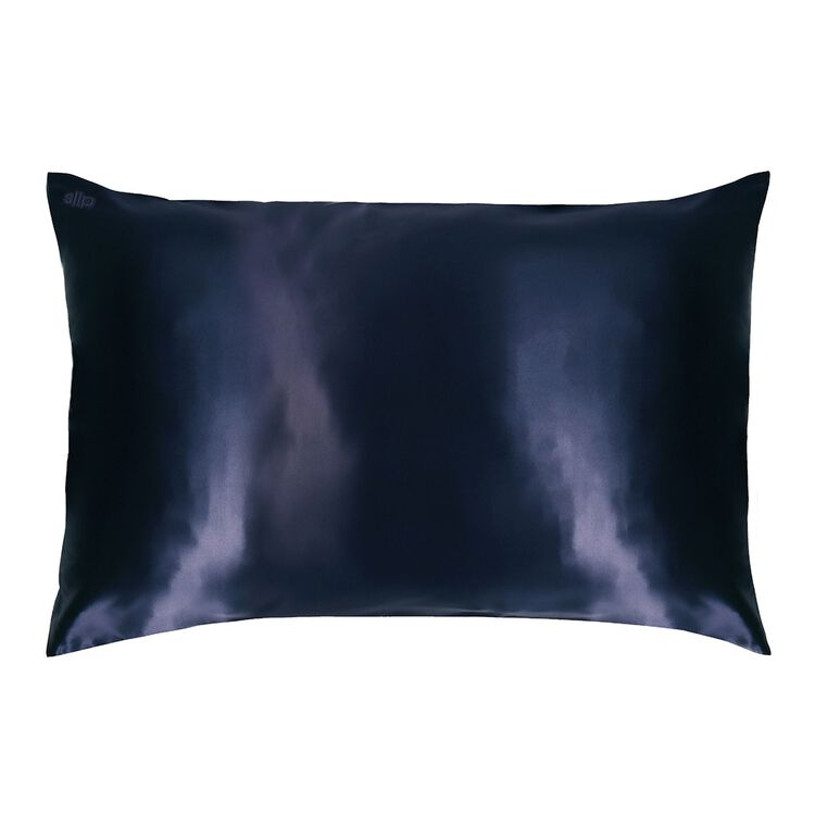 Silk Pillowcase - Queen Standard, NAVY, large