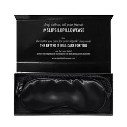 Silk Sleep Mask, BLACK, large