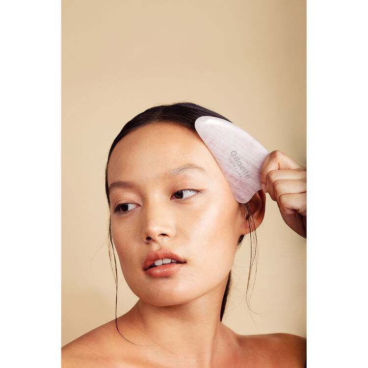 Crystal Contour Gua Sha Rose Quartz Beauty Tool, , large