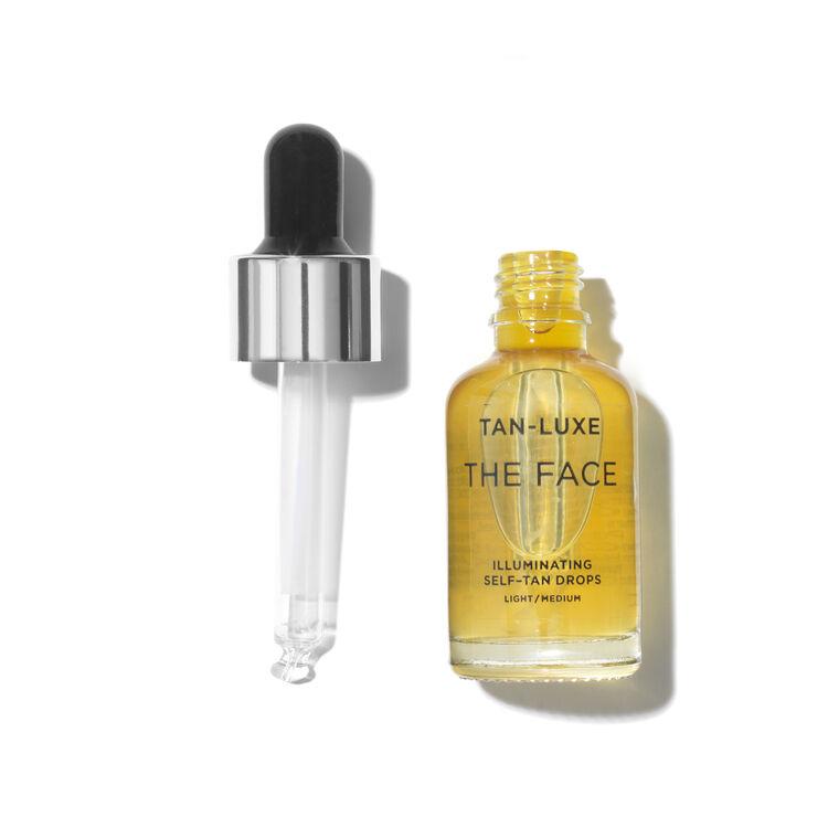The Face Illuminating Tan Drops Travel Size, LIGHT/MEDIUM 10ML, large