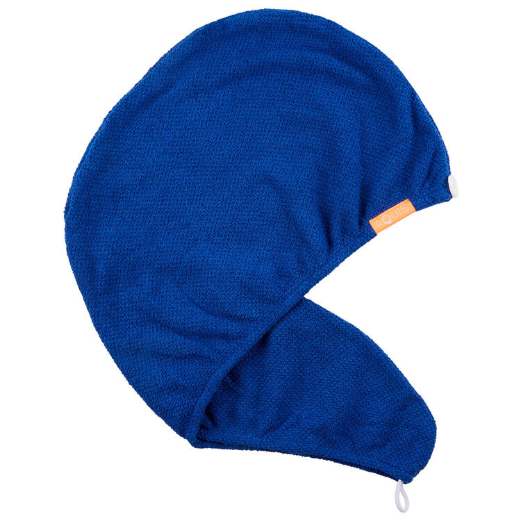 Classic Blue Stretch Turban, , large