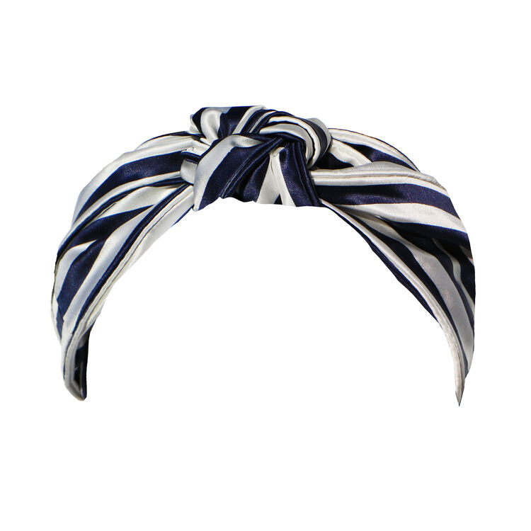 Knot Headband, NAVY STRIPE, large