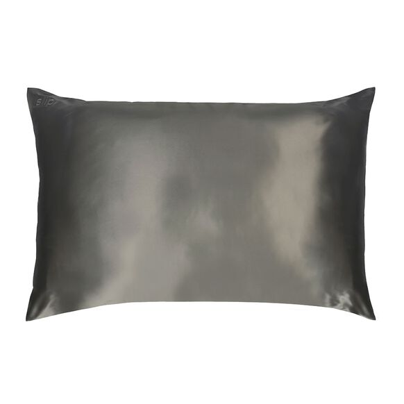 Silk Pillowcase - Queen Standard, CHARCOAL, large, image1