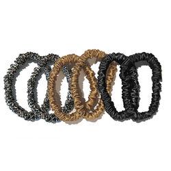 Skinny Scrunchies, GOLD, BLACK, LEOPARD, large