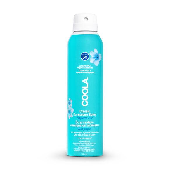 Classic Body Organic Sunscreen Spray SPF 50 Fragrance Free, , large, image1