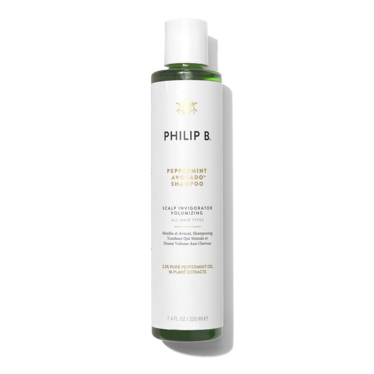 Peppermint & Avocado Volumising & Clarifying Shampoo, , large