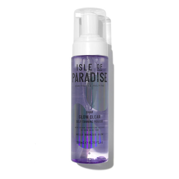 Glow Clear Self-Tanning Mousse Violet, DARK 200ML, large, image_1