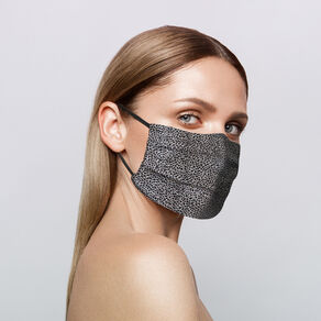 Reusable Silk Face Covering, LEOPARD, large