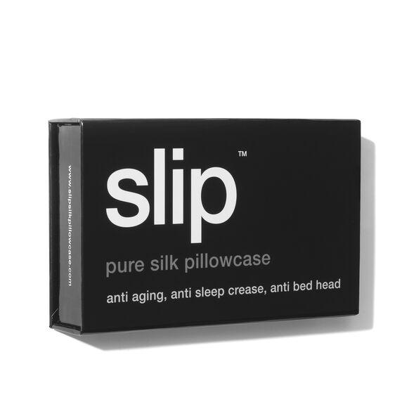 Silk Pillowcase - Queen Standard, BLACK, large, image4