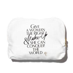 Lip Print Canvas Makeup Bag, , large