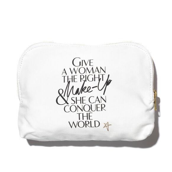 Lip Print Canvas Makeup Bag, , large, image2