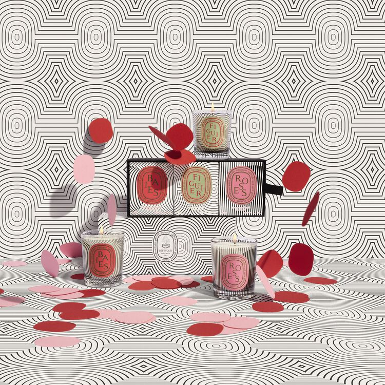 Set of 3 Candles Graphic Collection, , large