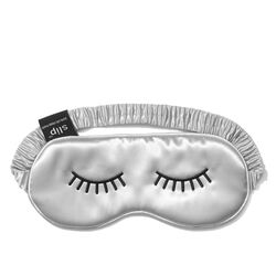 Lovely Lashes Embroidered Silk Sleep Mask, LOVELY LASHES, large