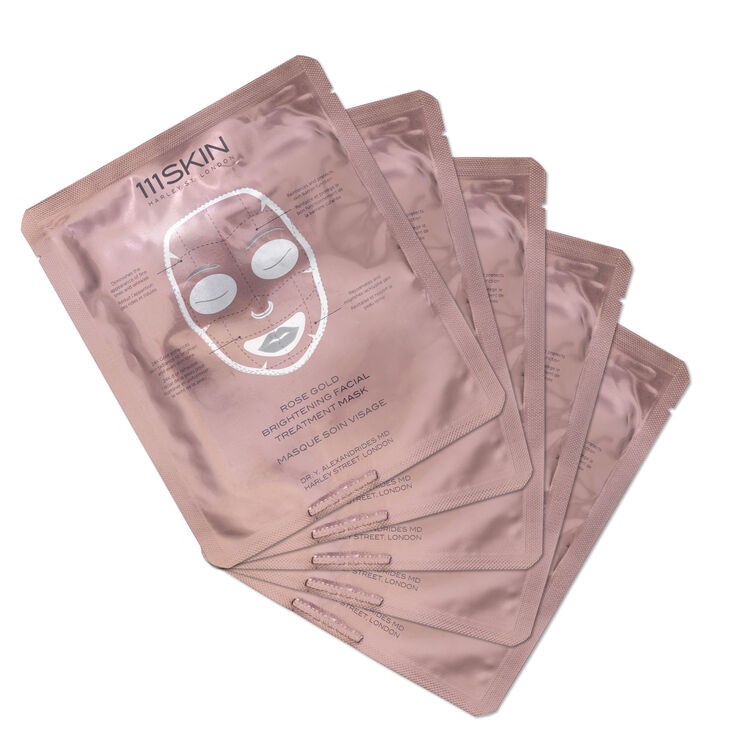 Rose Gold Brightening Facial Treatment Mask, , large