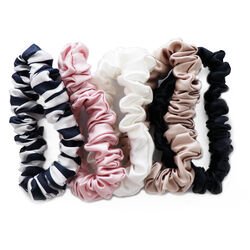 Midi Silk Scrunchies, MULTI, large