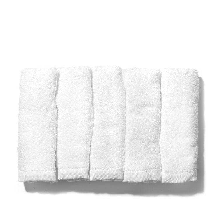 Pack of Five Cotton Face Cloths, , large