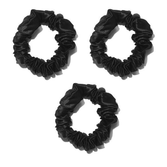 Large Silk Scrunchies, BLACK, large, image2