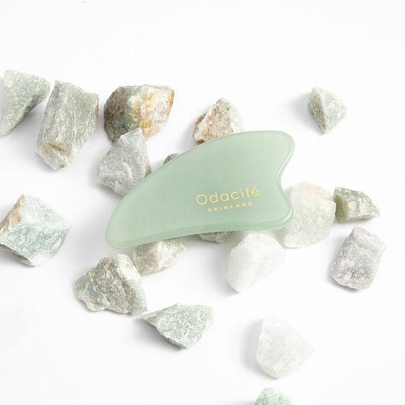 Crystal Contour Gua Sha Green Aventurine Beauty Tool, , large, image4