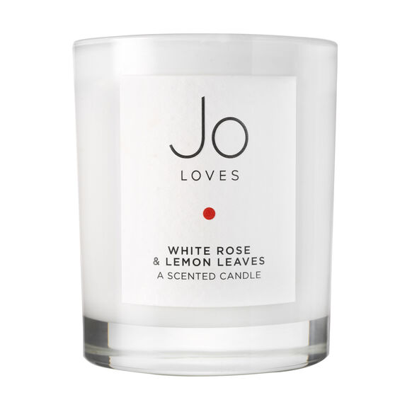 White Rose & Lemon Leaves A Scented Candle, , large, image1