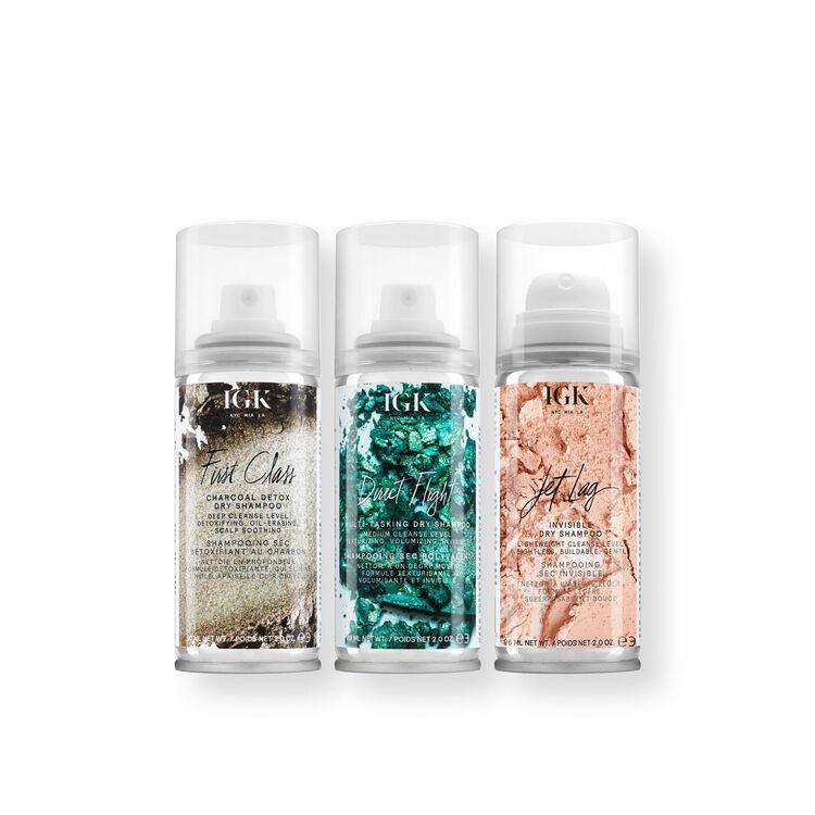 IGK FlightClub Dry Shampoo Travel Set, , large