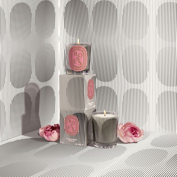 Scented Candle Graphic Collection Roses, , large, image2