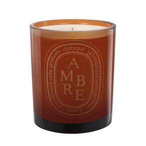 Ambre Coloured Candle, , large