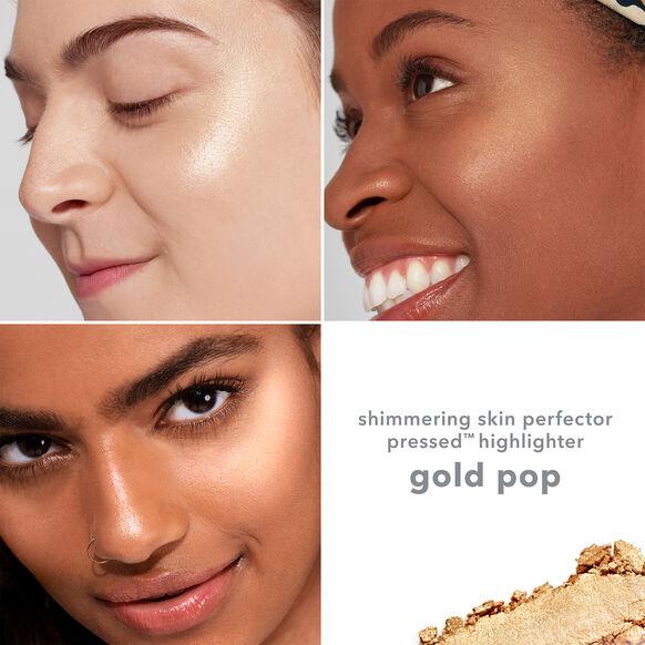 Shimmering Skin Perfector Pressed Highlighter, GOLD POP, large, image3