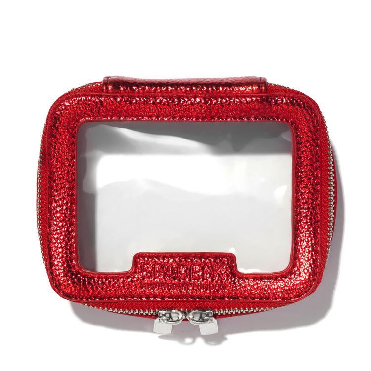 Space NK Travel Bag Mini, METALLIC RED, large