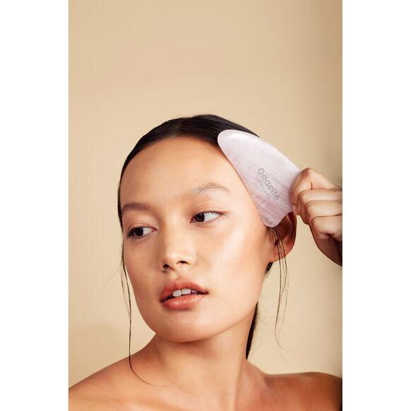 Crystal Contour Gua Sha Rose Quartz Beauty Tool, , large, image3