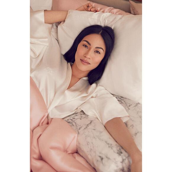 Silk Pillowcase - Queen Standard, WHITE, large, image4