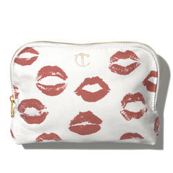 Lip Print Canvas Makeup Bag, , large