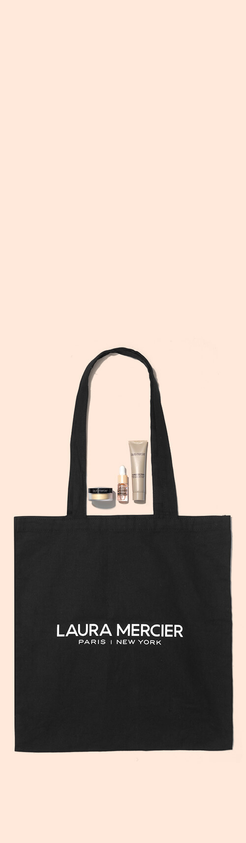 Laura Mercier Mini Makeup Trio & Tote Bag