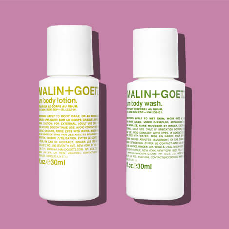 Goetz Rum Body Wash and Rum Body Lotion