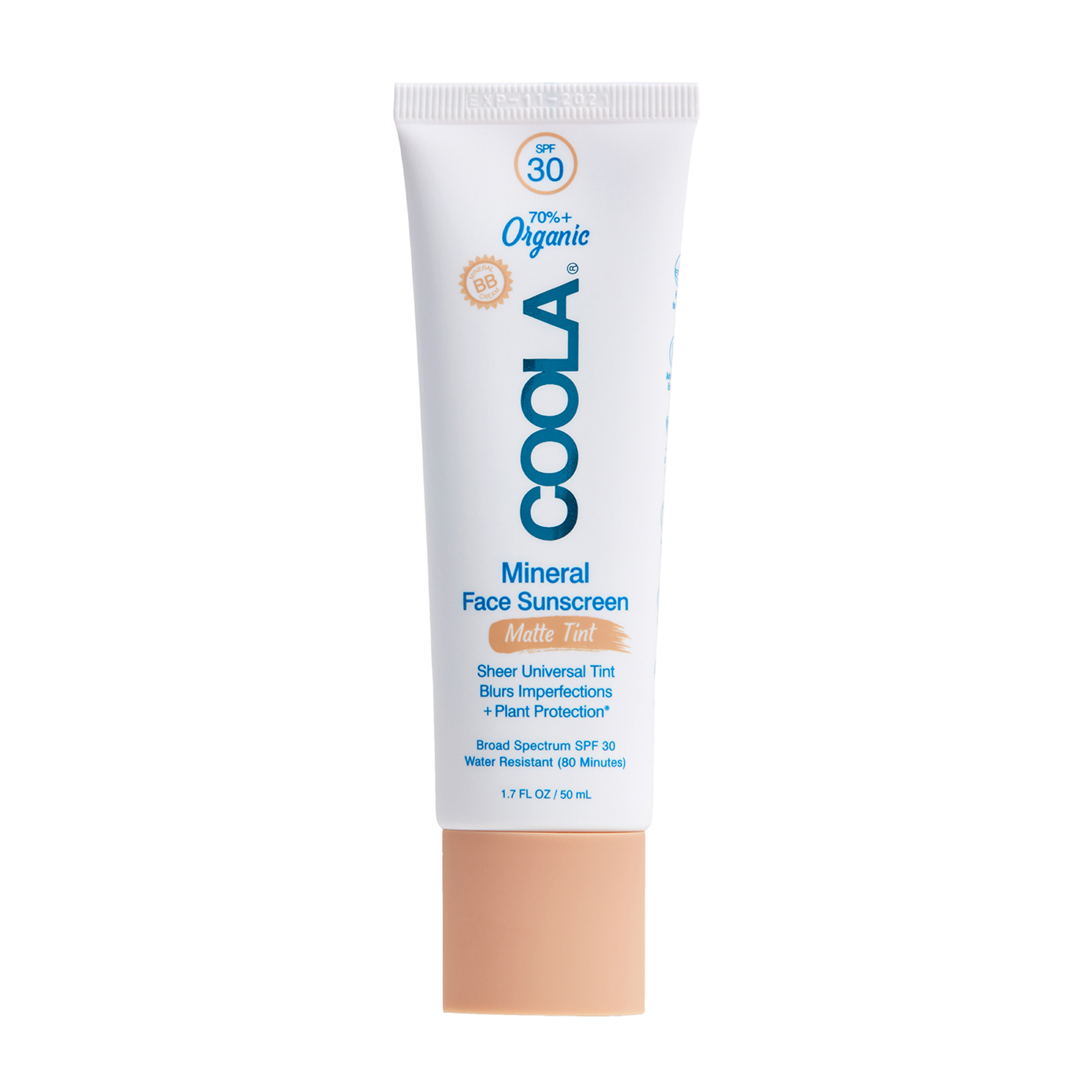 Mineral Face Organic Matte Tinted Sunscreen Lotion SPF30, , large